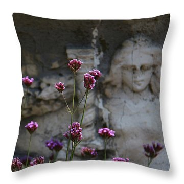 Delicate Pinks Throw Pillow by Yvonne Wright