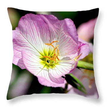 Delicate Poppy Throw Pillow by Kaye Menner