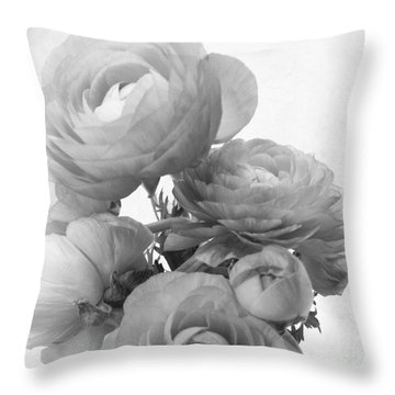 Delicate Ranunculus Throw Pillow