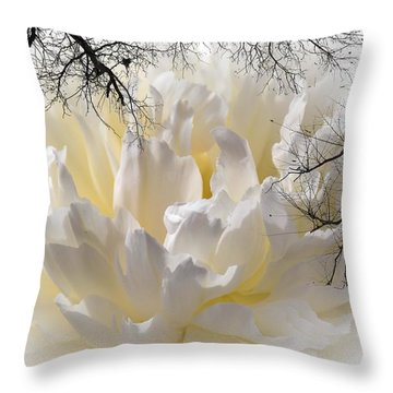 Delicate Throw Pillow by Sherman Perry