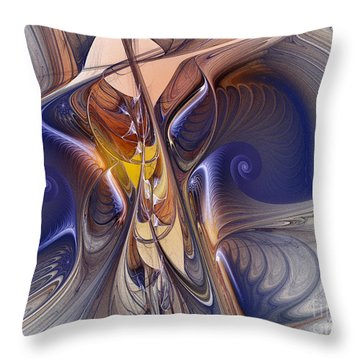 Delicate Spiral Duo In Blue Throw Pillow