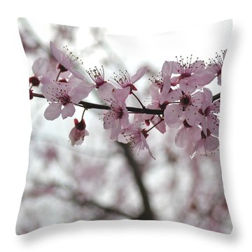Delicate Spring Throw Pillow