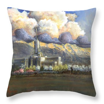 Delicate Spring Time Throw Pillow by Jeff Brimley