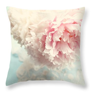 Delicate Throw Pillow by Sylvia Cook