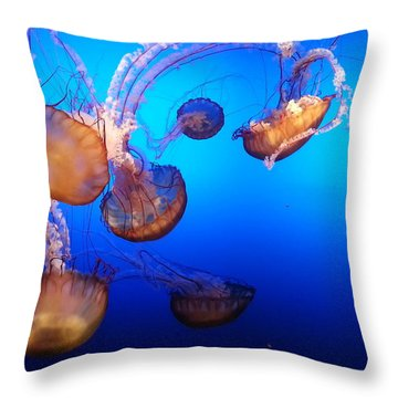 Delicate Waltz Throw Pillow
