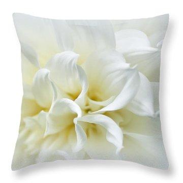 Delicate White Softness Throw Pillow