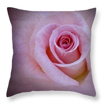 Delicately Pink Throw Pillow by Ivelina G