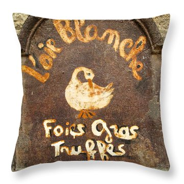 Delicatesse De Sarlat Throw Pillow by Suzanne Oesterling