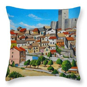 Deliceto Italy  Throw Pillow by Melinda Saminski
