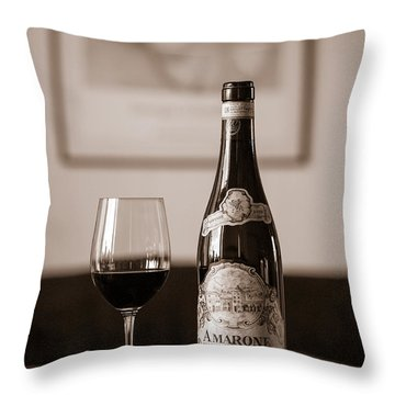 Delicious Amarone Throw Pillow
