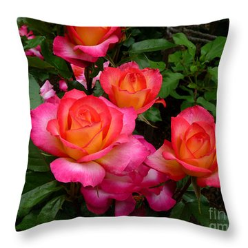 Delicious Summer Roses Throw Pillow by Richard Donin
