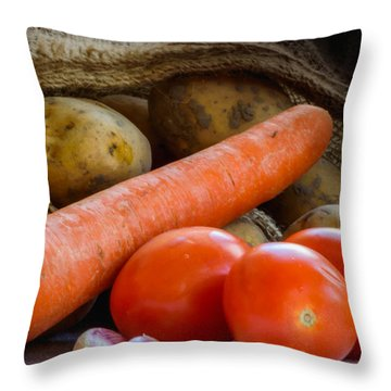 Delicious Vegetables   Throw Pillow