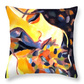 Throw Pillow featuring the painting Delight by Helena Wierzbicki