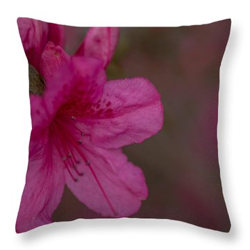 Delightful Azalea Throw Pillow