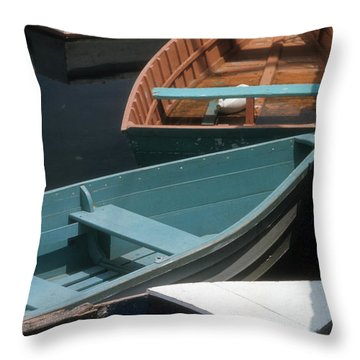 Throw Pillow featuring the photograph Delightful Dinghies by ELDavis Photography
