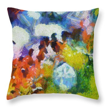 Throw Pillow featuring the digital art Delightful Surprise by Joe Misrasi