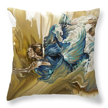 Deliver Throw Pillow by Karina Llergo