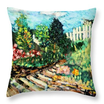 Delphi Garden Throw Pillow