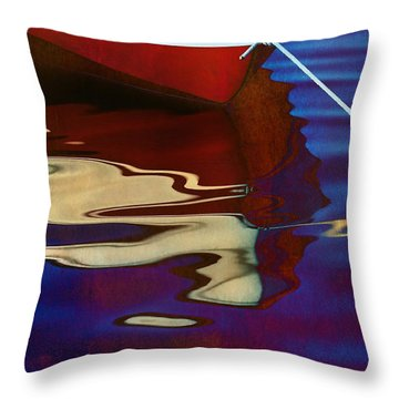 Delphin 2 Throw Pillow by Laura Fasulo