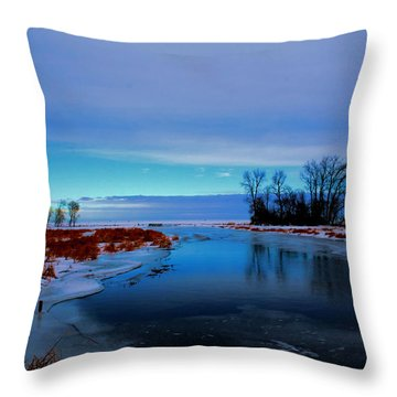 Delta Beach Channel Throw Pillow