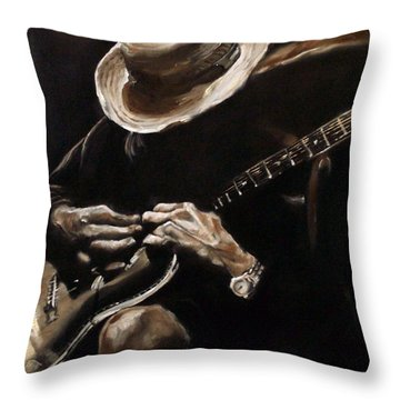 Delta Blues Throw Pillow
