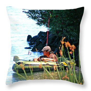 Delta Fishing Throw Pillow