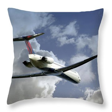 Delta Jet Throw Pillow by Brian Wallace