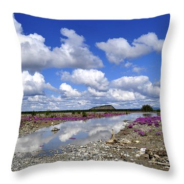 Throw Pillow featuring the photograph Delta Junction Summer by Cathy Mahnke