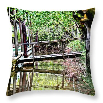Delta Marina Dock Throw Pillow