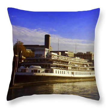Delta Queen Throw Pillow by Timothy Bulone
