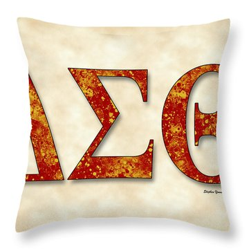 Delta Sigma Theta - Parchment Throw Pillow by Stephen Younts