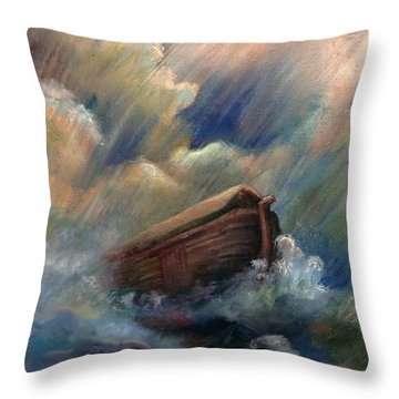 Deluge Throw Pillow by Judy Downs