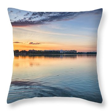 Throw Pillow featuring the photograph Democracy Awakens by Sebastian Musial
