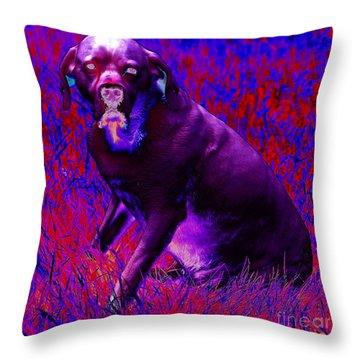 Demon Dog Throw Pillow by Jesse Ciazza