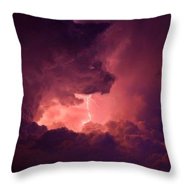 Demon In The Night Throw Pillow