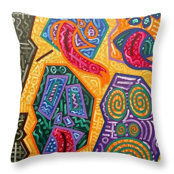 Demons Throw Pillow by Patrick J Murphy