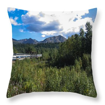 Denali Alaska Throw Pillow