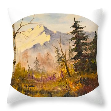 Denali Autumn Throw Pillow