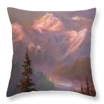 Denali Summer - Alaskan Mountains In Summer Throw Pillow