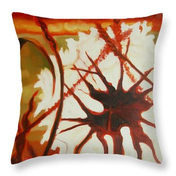 Dandelion At Last Light 2 Throw Pillow