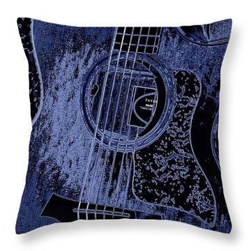 Denim Blues Taylor Throw Pillow