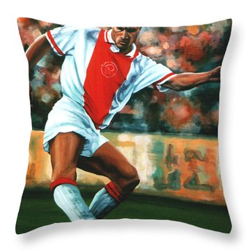 Dennis Bergkamp 2 Throw Pillow by Paul Meijering