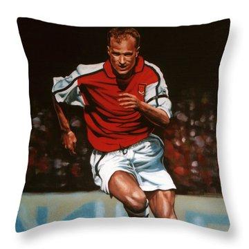 Dennis Bergkamp Throw Pillow by Paul Meijering