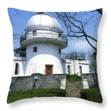 1u22 Swasey Observatory At Denison University Photo Throw Pillow