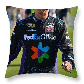 Denny Hamlin Throw Pillow