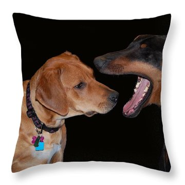 Throw Pillow featuring the photograph Dentist by Mim White