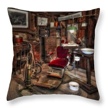 Dentist Office Throw Pillow by Susan Candelario