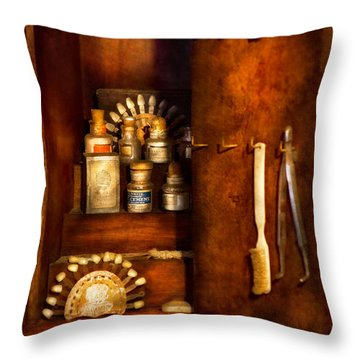 Dentist - The Dental Cabinet Throw Pillow by Mike Savad