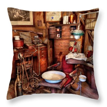Dentist - The Doctor Will Be With You Soon  Throw Pillow by Mike Savad