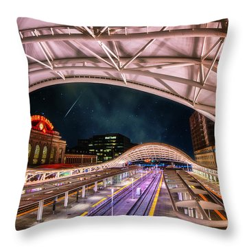 Denver Air Traveler Throw Pillow